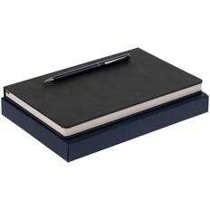 Набор Magnet Chrome: блокнот, ручка шариковая Hotel Chrome, синий фото