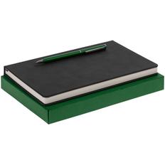 Набор Magnet Chrome: блокнот, ручка шариковая Hotel Chrome, зеленый фото