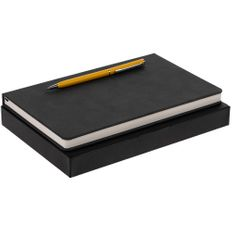 Набор Magnet Chrome: блокнот, ручка шариковая Hotel Chrome, желтый фото