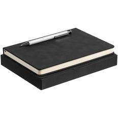 Набор Magnet: ежедневник Magnet, ручка шариковая Attribute, черный / белый фото