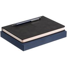 Набор Magnet: ежедневник Magnet, ручка шариковая Attribute, черный / синий фото
