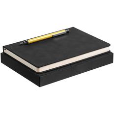 Набор Magnet: ежедневник Magnet, ручка шариковая Attribute, черный / желтый фото