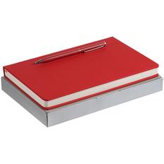 Набор Magnet Shall: ежедневник Magnet Shall, ручка шариковая Hotel Chrome, красный фото
