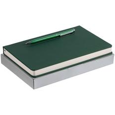 Набор Magnet Shall: ежедневник Magnet Shall, ручка шариковая Hotel Chrome, зеленый фото
