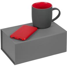 Набор Match Made: внешний аккумулятор Uniscend Half Day Compact 5000 mAh, кружка Surprise Touch, красный фото