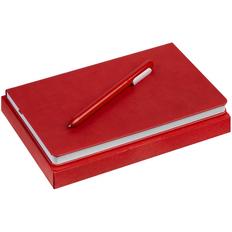 Набор Minimal: ежедневник недатированный, ручка шариковая Slider, красный фото