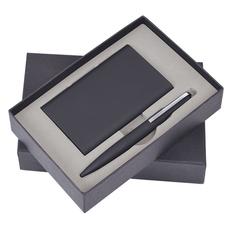 Набор Mirror: внешний аккумулятор 6000 мАh, кабель 3 в 1 и ручка, черный фото