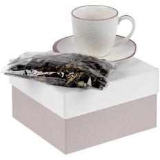 Набор Molti Grainy: чайная пара, чай «Таежный сбор», белый / пыльно-розовый фото