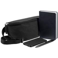 Набор Need Deed: сумка поясная, блокнот Freenote Wide, аккумулятор markBright Town, 5000 мАч, ручка Prodir DS4 PMM-P, черный фото