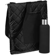 Набор Nest Rest: плед для пикника Soft&Dry, термобутылка Sherp, черный фото