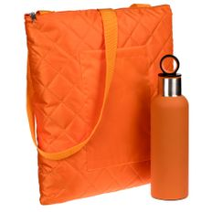 Набор Nest Rest: плед для пикника Soft & Dry, термобутылка Sherp, оранжевый фото