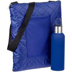Набор Nest Rest: плед для пикника Soft & Dry, термобутылка Sherp, синий фото