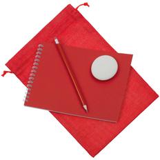 Набор Nettuno Maxi: блокнот, карандаш простой, ластик, красный фото