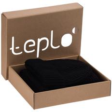 Набор teplo Nordkapp: шапка, шарф, черный фото
