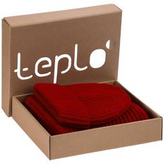 Набор teplo Nordkapp: шапка, шарф, красный фото