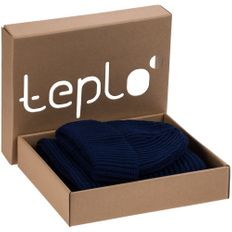 Набор teplo Nordkapp: шапка, шарф, темно-синий фото