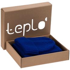 Набор teplo Nordkapp: шапка, шарф, ярко-синий фото
