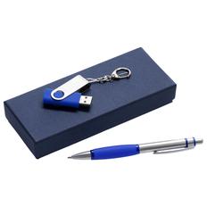 Набор Notes: ручка и флешка 8 Гб, синий, синий фото