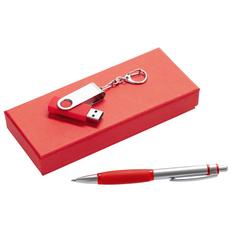Набор Notes: ручка и флешка 8 Гб, красный фото