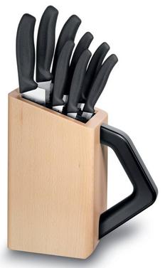 Набор ножей кухонных Victorinox Swiss Classic, чёрный, 8шт фото