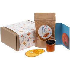 Набор Orange Sky: джем, апельсиновые чипсы, открытка, крафт фото