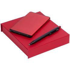 Набор Orbis: внешний аккумулятор Double Reel 5000 mAh, ручка шариковая Chromatic, красный фото