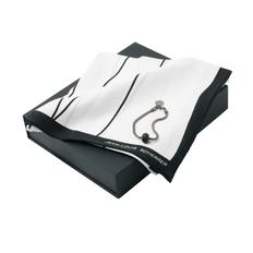 Набор: платок шейный, браслет, черный/ белый фото