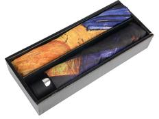 """Набор подарочный """"Ван Гог. Терраса кафе ночью"""": зонт складной механический, платок женский, разноцветный фото"""