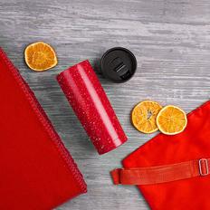Набор подарочный B`Cozy: плед, термокружка, рюкзак, красный фото