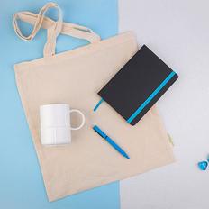 Набор подарочный Extraordinary: сумка, кружка, ручка B1, ежедневник недатированный Enote, голубой фото