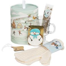 Набор подарочный Fairyland: кружка, варежки, специи для глинтвейна, подвеска, печенье, белый/ светло-зеленый фото