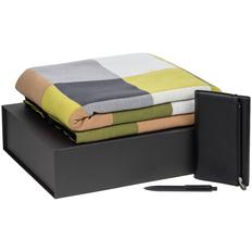 Набор подарочный Farbe Memo: плед, ежедневник Zipco Flap, ручка шариковая Prodir, зеленый / черный фото