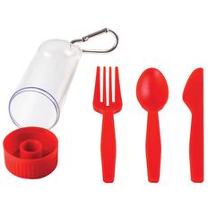Набор подарочный Firstaid: сумка, ланчбокс, набор столовых приборов, красный фото