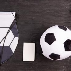 Набор подарочный Foot`By: подушка, зарядное устройство, рюкзак, чёрный/белый фото