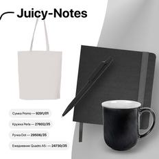 Набор подарочный Juicy-Notes: ежедневник, кружка, сумка, ручка, черный фото