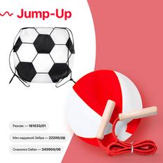 Набор подарочный Jump-Up: мяч надувной, скакалка, рюкзак для обуви, красный фото