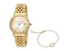 Набор подарочный Just Cavalli: часы наручные женские, браслет, золотистый фото