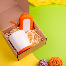 Набор подарочный Mattisse`Teas: кружка, зарядное устройство, оранжевый фото