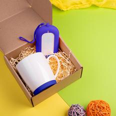 Набор подарочный Mattisse`Teas: кружка, зарядное устройство, синий фото