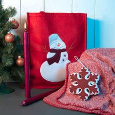 Набор подарочный Newspirit: сумка, свечи, плед, украшение, красный фото