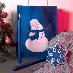 Набор подарочный Newspirit: сумка, свечи, плед, украшение, синий фото