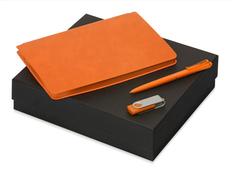 Набор подарочный Notepeno: блокнот А5, флешка 8Гб Квебек, ручка Plane, оранжевый фото
