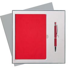 Набор подарочный Portobello Latte ST: ежедневник недатированный А5, ручка Crocus, красный фото