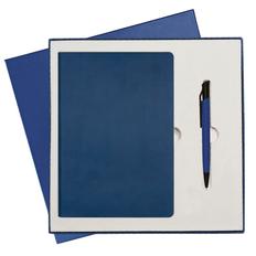 Набор подарочный Portobello Rain: ежедневник недатированный A5, ручка шариковая, синий фото