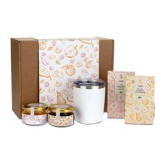 Набор подарочный Portobello WildBerry: термокружка, ассорти сухофруктов, мед, чай, конфитюр, крафт фото