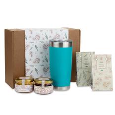Набор подарочный Portobello WildBerry: термокружка, клюква вяленая, мед, чай, конфитюр, крафт фото