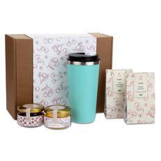 Набор подарочный Portobello WildBerry: термокружка, вишня вяленая, мед, чай, конфитюр, крафт фото