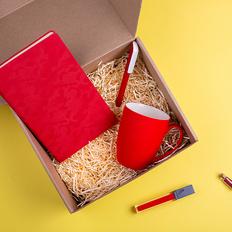 Набор подарочный Ruby Babe: бизнес-блокнот, ручка, кружка, красный фото