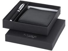 Набор подарочный: ручка шариковая, портмоне, черный фото