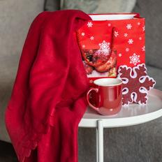 Набор подарочный Сhristmaswarm: плед, кружка, украшение, пакет, красный фото